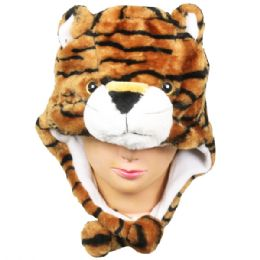 36 Units of Winter Animal Hat Tiger - Winter Animal Hats
