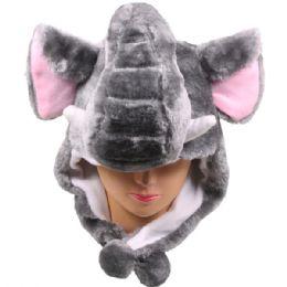36 Units of Winter Animal Hat Elephant - Winter Animal Hats