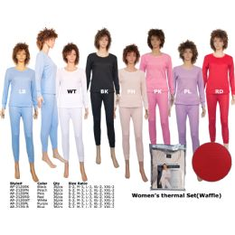 36 of Woman S Winter Thermal Set (waffle) By Color