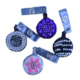 240 Units of Plastic Retractable Id Holders In Assorted Styles / Colors - ID Holders