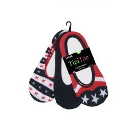 100 Units of Women's Acrylic/nylon With 10% Spandex Foot Liners In Assorted Styles - Womens Foot Liners