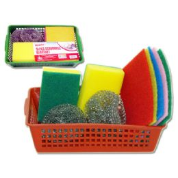 48 Units of 9 Piece Scrubber Set - Scouring Pads & Sponges