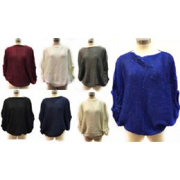 12 of Solid Color Knitted Poncho With Sequins