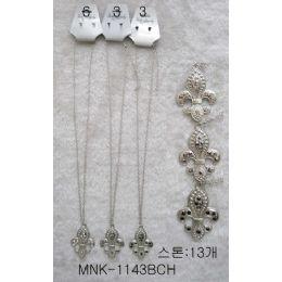 120 Units of Fleur De Lis Necklace Earring Set - Necklace Sets