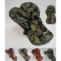 24 Units of Legionnaires Hat [hardwood Camo With Mesh] - Sun Hats