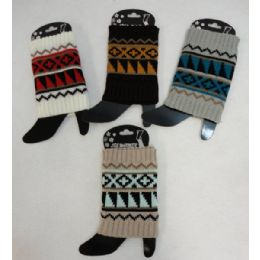 48 Units of Knitted Boot Cuffs - Womens Leg Warmers
