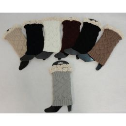 12 Units of Knitted Boot Cuffs [antique Lace] - Womens Leg Warmers