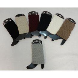 12 Units of Knitted Boot Cuffs [diamond Knit] - Womens Leg Warmers