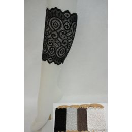 """24 Units of Lace Boot Cuffs [swirl] Assorted Colors. 6.5"""" Long. - Womens Leg Warmers"""