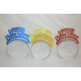 144 Units of New Year Glitter Crown - New Years