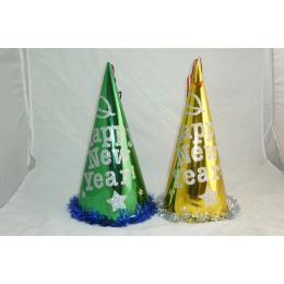 96 Units of New Year Paper Glitter Hat - New Years