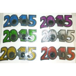 144 Units of 2015 Novelty Glasses - New Years