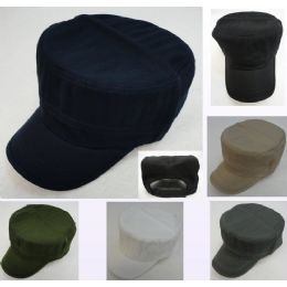 12 Units of Cadet Hat [solid]--Cotton - Military Caps