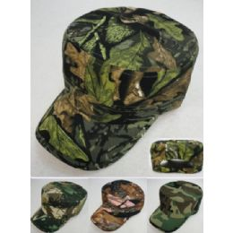 12 Wholesale Cadet Hat [assorted Camo]