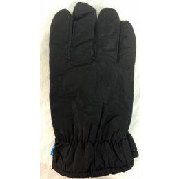 12 Bulk Winter Black Ski Glove With Inside Lining And AntI-Slip Grip