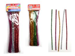 96 of 50 Piece Craft Glitter Stems