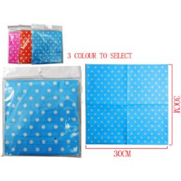 144 Units of 20 Piece Polka Dot Napkins - Napkin and Paper Towel Holders