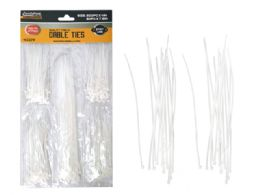 144 Units of 250pc White Cable Ties - Wires