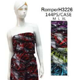 144 Units of Tube Top Short Romper Sets - Womens Rompers & Outfit Sets