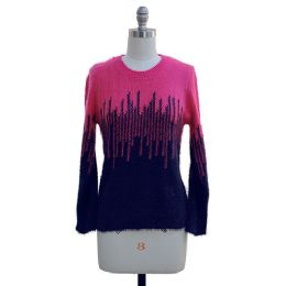 12 of Colorblock Eyelash Sweater Navy And Hot Pink