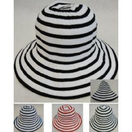 24 Units of Ladies Fashion Hat Two-Tone Swirl - Sun Hats