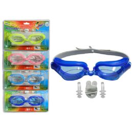 288 Units of Swim Goggles With Nose And Ear Plugs - Summer Toys