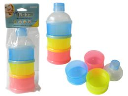 72 Units of Milk Powder Container 3 Section - Baby Accessories