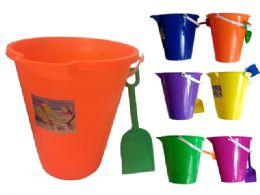 48 Units of Bucket Round - Beach Toys