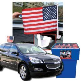 100 Units of Dsd - Usa Car Flags 100 Per Display - Flag