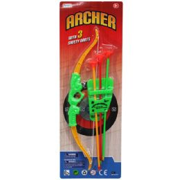 """72 Units of 13.5"""" Bow & Soft Dart Arrows Play Set, In Blister Card - Darts & Archery Sets"""