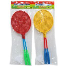 48 of Badminton Play Set With Birdie In Poly Bag W/header