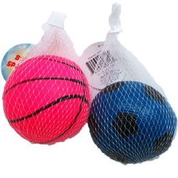 """48 of 4.5"""" Sport Ball In Pegable Net Bag"""