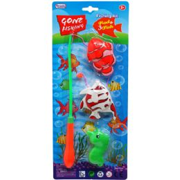 72 Units of Fishing Game Set In Blister Card - Summer Toys