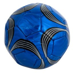 60 Units of Official Size Metallic Swirl Soccer Ball - Balls
