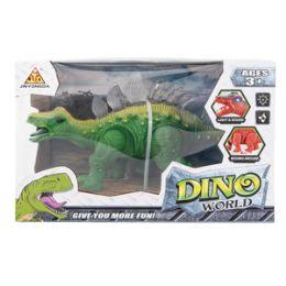 12 Units of Light-up Dino World Stegosaurus with Sound - Action Figures & Robots