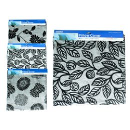 48 Units of Pillow Cover 43x43cm 4asst - Pillow Cases