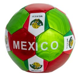 60 Units of Official Size Metallic Mexico Soccer Ball - Balls