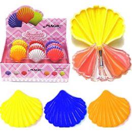 192 Units of Magic Seashell Lip Gloss Compacts - Lip Gloss