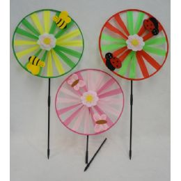 """36 Units of 13"""" Round Wind Spinner [felt Bug/bee/butterfly] - Wind Spinners"""