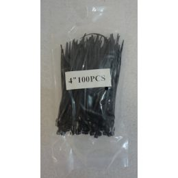 """48 Units of 100 Piece 4"""" Cable Ties [black] - Wires"""