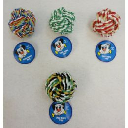 24 Units of Pet Rope Knot Ball - Pet Toys