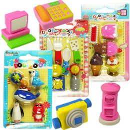192 Wholesale Assorted Cute Eraser Sets