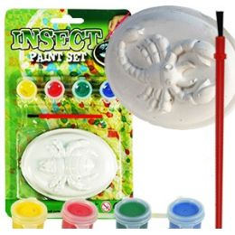 36 Units of 3d Insect World Paint Kits - Craft Glue & Glitter