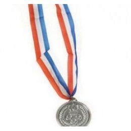 288 Units of Silver Medal Ribbon - Bows & Ribbons