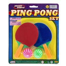 36 Units of Mini Ping Pong Game - 4 Piece Set - Balls