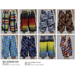 144 Units of Mens Swimming Trunks - Mens Bathing Suits