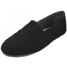 24 Units of Men's Canvas Slip On Black - Men's Shoes