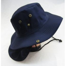 48 Wholesale Men's Solid Color Bucket Hat With Drawstring