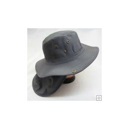 24 Wholesale Men's Solid Color Bucket Hat