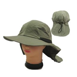 24 Wholesale Mens Solid Color Hunting Hat